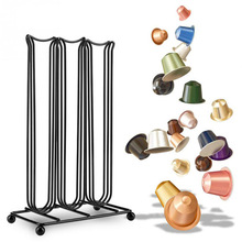 Metal Coffee Pod Holder Nespresso Capsule Stand Dispenser 3 Lines Storage Rack For 42 Pcs Dolce Gusto
