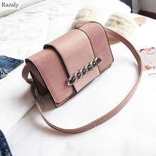 Razaly brand crossbody bags for women designer handbags high quality bolsa feminina small leather satchels silver chain clutches