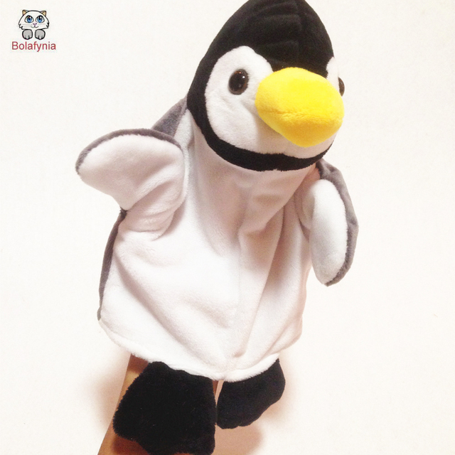Cute penguin Children Hand Puppet baby infant plush Stuffed Toy hand Puppets toys Christmas birthday gift