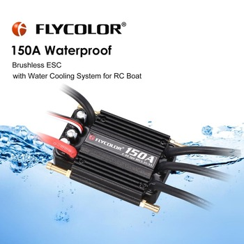 Original FLYCOLOR 2-6S 120A150A Waterproof Brushless ESC Speed Controller for RC Boat Ship with BEC 5.5V/5A Water Cooling System цена 2017