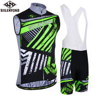 SIILENYOND Cycling Jersey Set 2018 Summer Sleeveless Cycling Vest Set Ropa Ciclismo Men Breathable Cycle Clothing