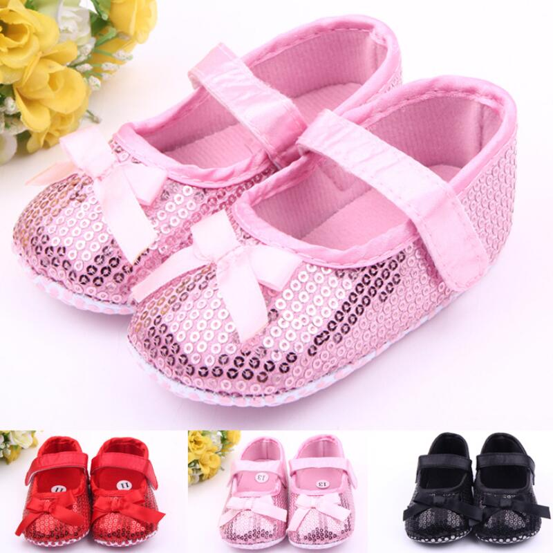 # Myfirstshoes # Baby Bling Bling Kleidung Schuhe Baby Kleid Schuhe Baby Weiche Sohle Schuh Rosa Herbst Baby Footwears Für Mädchen Seien Sie Freundlich Im Gebrauch