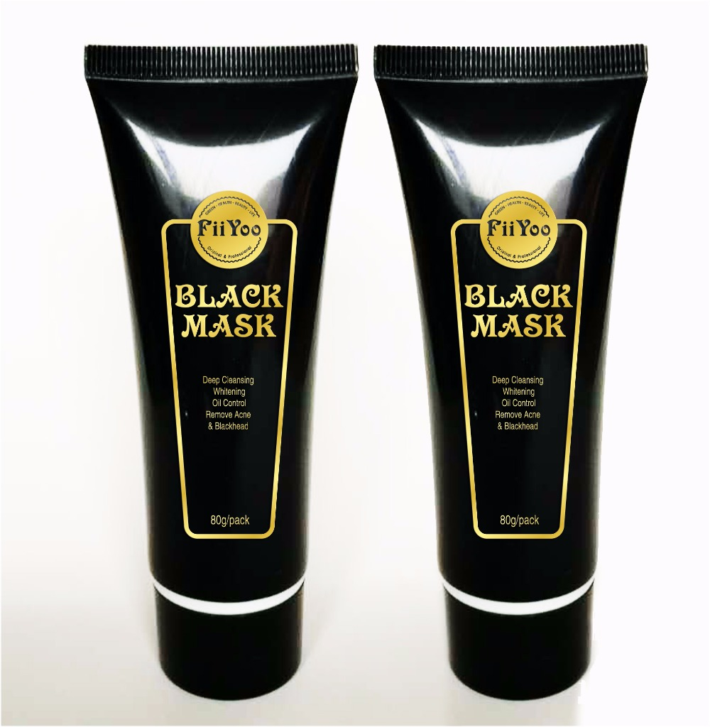 2015 New FiiYoo Face skin Care Suction Black Mask Facial Mask Nose Blackhead Remover Peeling Peel Off Black Head Acne Treatments
