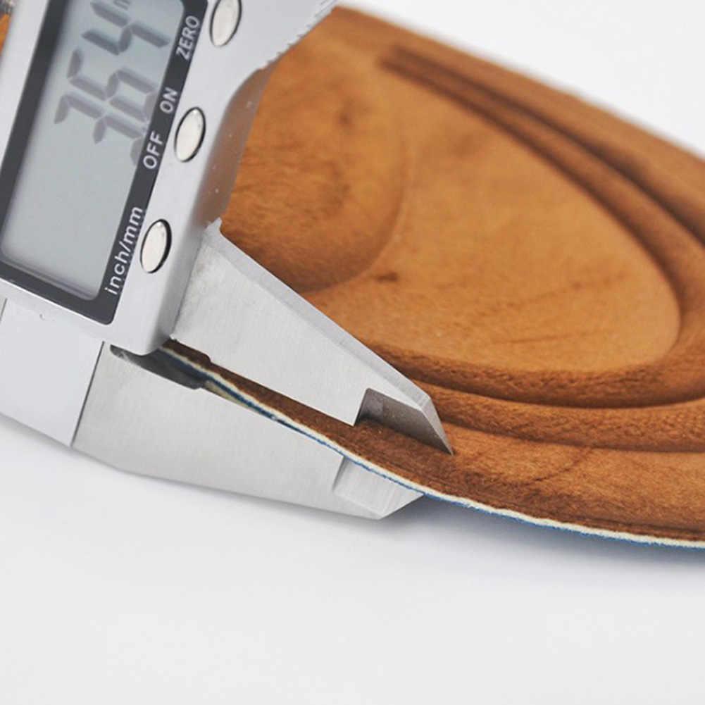 4D الجلد المدبوغ الذاكرة نعال فوم تقويم العظام النعال الرياضة الإسفنج قوس دعم النعال للأحذية شقة قدم الرعاية وحيد بطانة حذاء