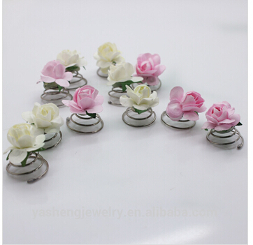 6Pcs/lot Paper rose decorated spiral hairpin Wedding Bridal Hair Pin Twists Coils Flower Swirl Spiral Hairpins hair Accessories halloween party zombie skull skeleton hand bone claw hairpin punk hair clip for women girl hair accessories headwear 1 pcs