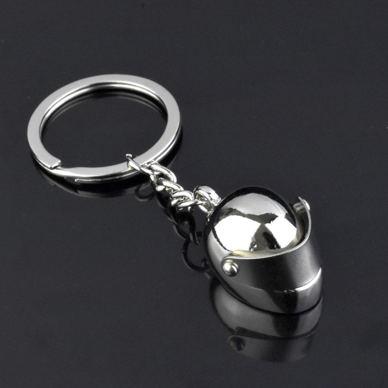 Lovely Classic 3D Simulation Model Of Motorcycle Helmet Charms Creation Alloy Key Chain Holder Car Ring Gifts
