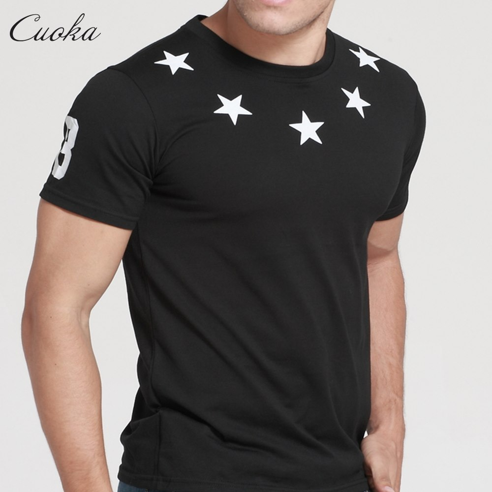 Mens brand clothing 88 star print t shirts hba hip hop t for Top dress shirt brands