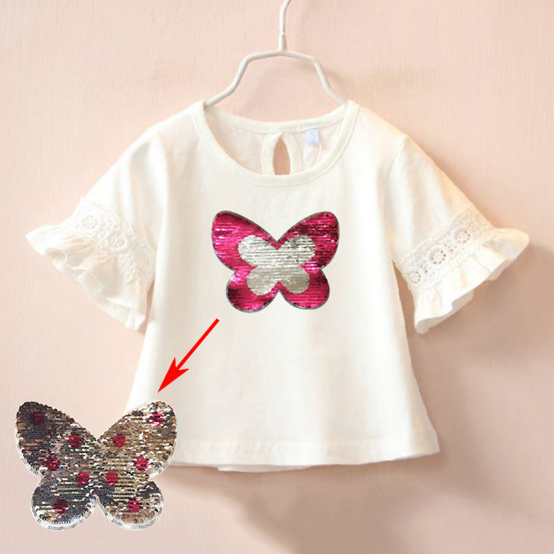 Personalized and Butterfly Cotton Girl Toddler Long Sleeve Ruffle Shirt Top