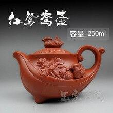 2015 heißer Verkauf Chinesisches Porzellan Lila Ton Teekanne Yixing Teekanne 250 ml Handarbeit Teekannen Keramik Kung Fu Set Zisha Sets Wasserkocher