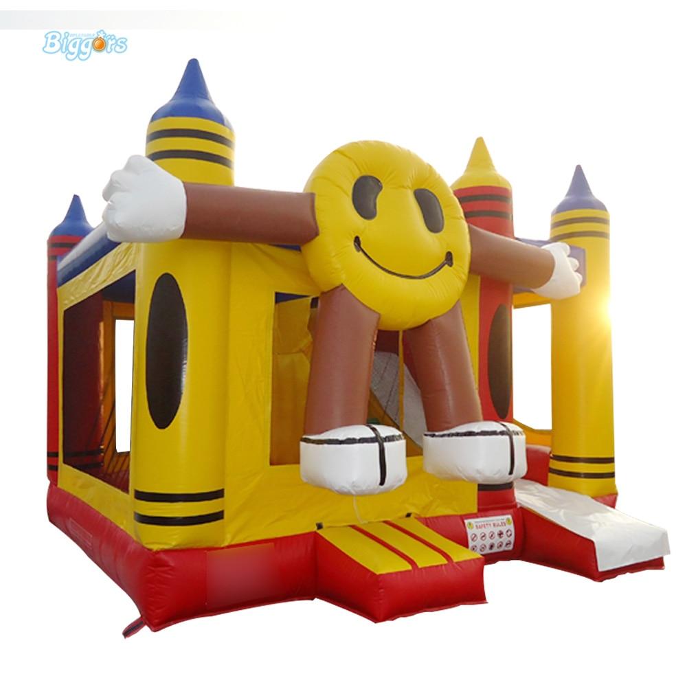 Aire de jeux gonflable de château gonflable de Trampoline de visage de sourire à vendre