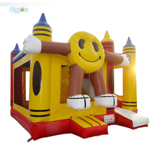 Smile Face Inflatable Trampoline Bouncy Castle Playground for Sale
