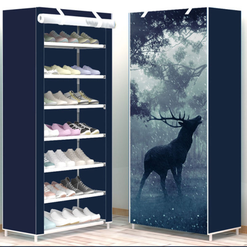 6 Layer 8 Layer 10 Layer Simple DIY Assembly Cloth Shoe Cabinet Living Room Shoes Storage Rack Shelves Home Furniture
