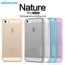 Nillkin For iPhone SE 5S Case Silicone Cover For iPhone 5 5s Soft TPU Case Cover Clear Flexible Transparent Protective Shield(China)