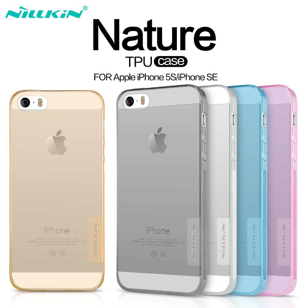 Nillkin For iPhone SE 5S Case Silicone Cover For iPhone 5 5s Soft TPU Case Cover Clear Flexible Transparent Protective Shield