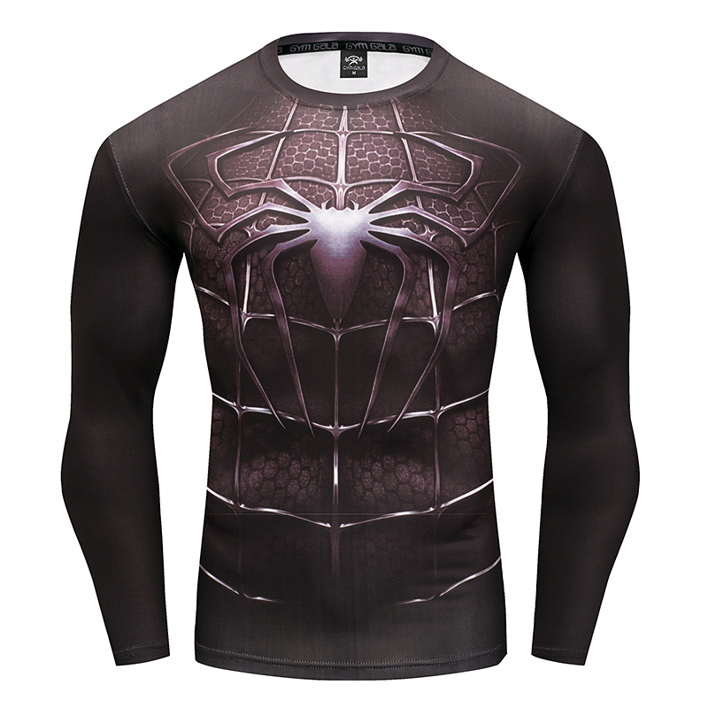 Men's T-Shirt 3D Superhero Spider-Man men's fitness t-shirt Gyms Branded Casual men's wear Summer work out fitness Tops S-4XL