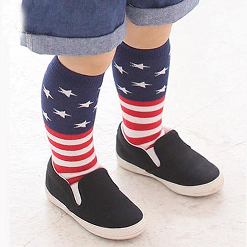 Kids Girls Cotton Striped Socks School High Knee Socks leg Warmer