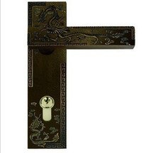 Wholesale- Dragon Pattern Zinc Alloy Lever Handle door lock  D160-DRAGON AHFree Shipping