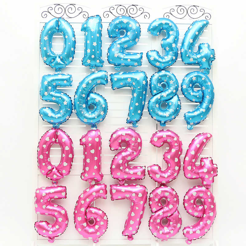 16 pouces numéro feuille ballon fête d'anniversaire ballons bleu rouge or argent numéro Fiol ballon bébé douche fête de mariage décoration