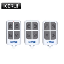 KERUI беспроводной портативный пульт дистанционного управления 4 кнопки для KERUI GSM PSTN система домашней сигнализации брелоки