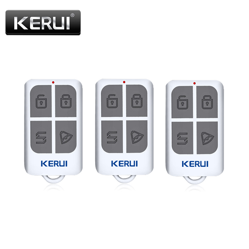 KERUI Wireless Portable Remote Control 4 Buttons For KERUI GSM PSTN Home Alarm System Key Fobs