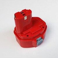 UNITEK 14,4 V 5000mah batería recargable de iones de litio para makita taladro eléctrico inalámbrico 6233D 6237D 6281D 6333D 6337D 6381D