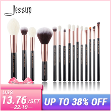 b3177b670 Jessup brushes Rose Gold   Black Professional Makeup Brushes Set Foundation  Powder Make up brush Pencil