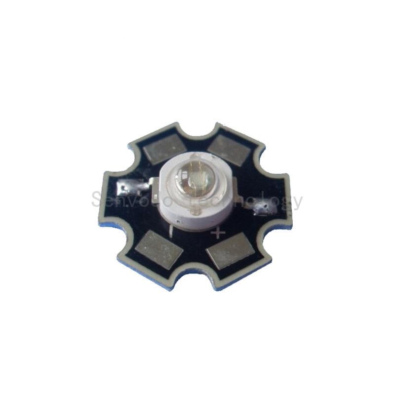 100X Заводская поставка Королевский синий 3 Вт светодиодный чип 440-445nm с 20 мм теплоотвод