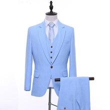 948a8acf5 Popular Sky Blue Tuxedo Vest-Buy Cheap Sky Blue Tuxedo Vest lots ...