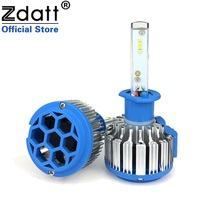 Zdatt 2Pcs Super Bright H1 Led Bulb Canbus 70W 7000Lm Headlights Car Led Light 12V 24V