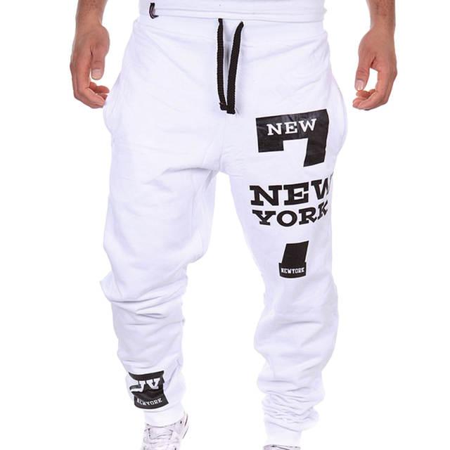 2f9be1c3f Laamei hombres Jogger Pantalones ropa deportiva hombres impreso primavera  cartas pantalones de entrenamiento Streetwear Hombre Pantalones Pantalon ...