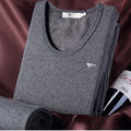 110204/Men Thermal underwear / autumn / clothing / pants / men round neck / V-neck/ / thin cotton sweatercotton