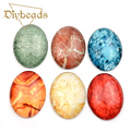 10PCs Glass Cabonchons 30x40mm Oval Mysterious Stone Cabochons Jewelry DIY Findings Accessories Embellishments Flatback  DIY