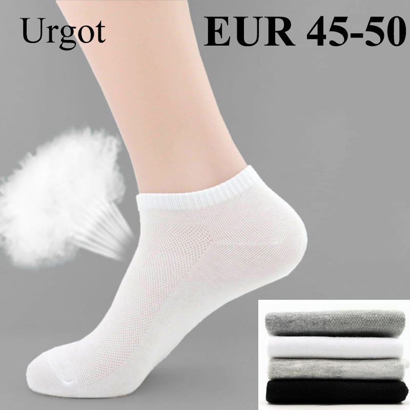 Urgot 5 Pairs Mens Socks Big Large Plus Size 48,49,50 Casual Business Socks Summer Mesh Breathable Cotton Sock Calcetines Hombre