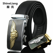 Automatic Belt Silver-Buckle Body-Designers Men's High-Quality Fashion Gold Interlayer
