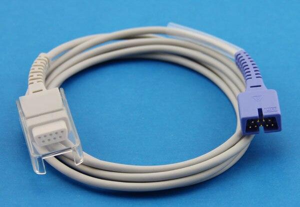 Nellcor 9pins Oximax DEC-10 Compatible SpO2 Sensor Extension Adapter Cable