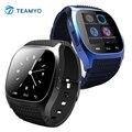 Rwatch m26 relógio inteligente do bluetooth android smartwatch m26 com display led music player pedômetro chamada lembrar para samsung htc lg