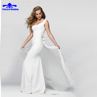 Fashion Scoop Mermaid Evening Dress Simple Long Elegant Party Dresses Sexy Backless Beading Pearls Satin Evening