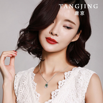 2020 Real Asg Sale Choker Necklace Tang Jing Natural Mexican Potter S925 Inlaid Pendant For Ladies With Clavicle Gift Box
