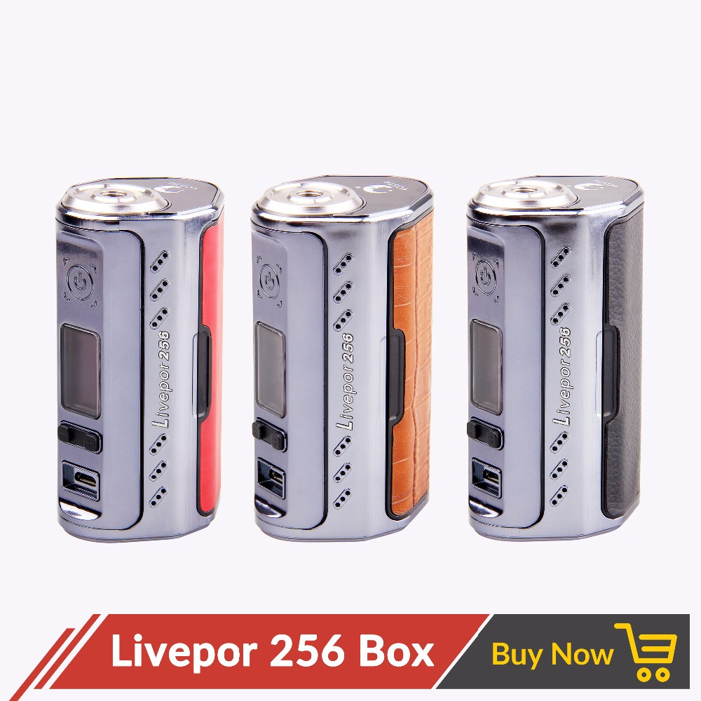 D'origine E Cigarette Yosta Livepor 256 256 w Boîte Mod sans 18650 Batterie avec Écran OLED VW MECH TC- ni TC-Ti TC-SS PTC Mode