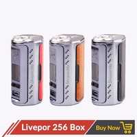 Original E Cigarette Yosta Livepor 256 256w Box Mod without 18650 Battery with OLED Screen VW MECH TC Ni TC Ti TC SS PTC Mode