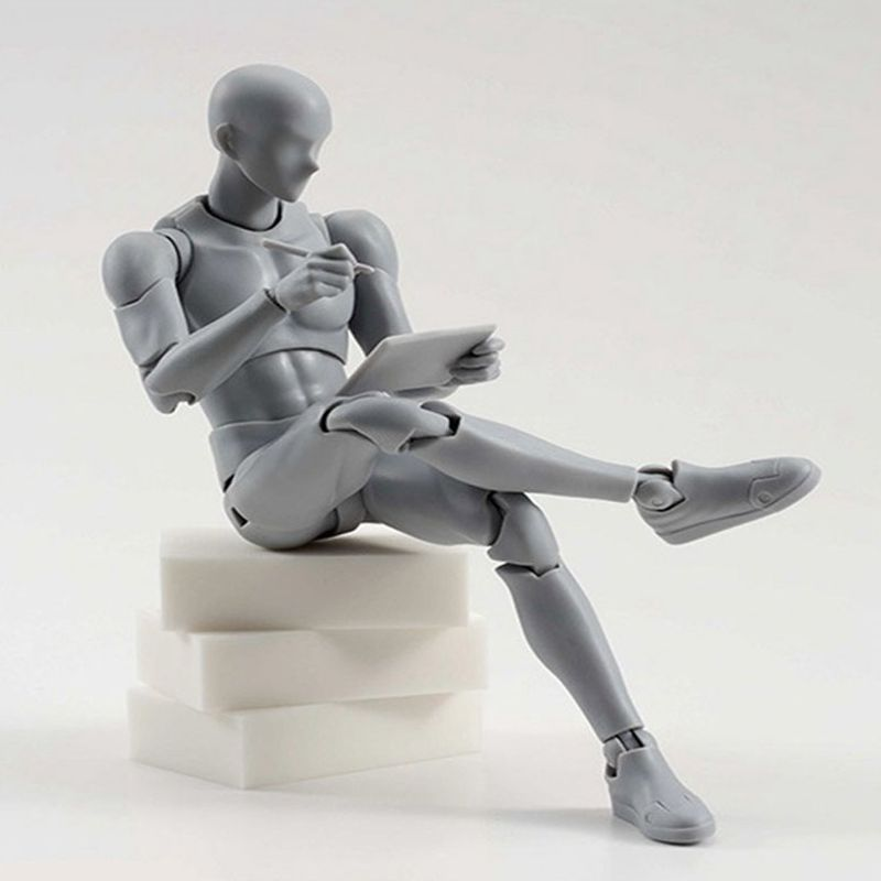 1Pcs Action Figure Toys Artist Movable Male Female Joint Figure Body Model Mannequin BJD Art Sketch Draw Figures Human Body Doll new 2pcs female right left vivid foot mannequin jewerly display model art sketch