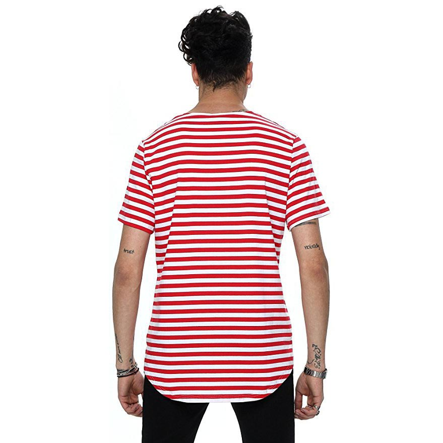 Nuevo 2018 calle de moda de verano camiseta de los hombres de la - Ropa de hombre - foto 6