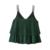 Moda Jihan Nueva Laminet Tank Tops Mujeres Camisola Chaleco de Estilo Corto señoras Con Cuello En V Loose Sexy Camis Tops Volantes Doble Capa Femenina