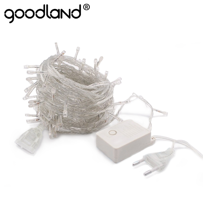 LED String 10M kalis air 110V 220V 100 LED Fairy Light 9 Warna Krismas Gerlyanda Taman Hiasan Taman Garland Halloween