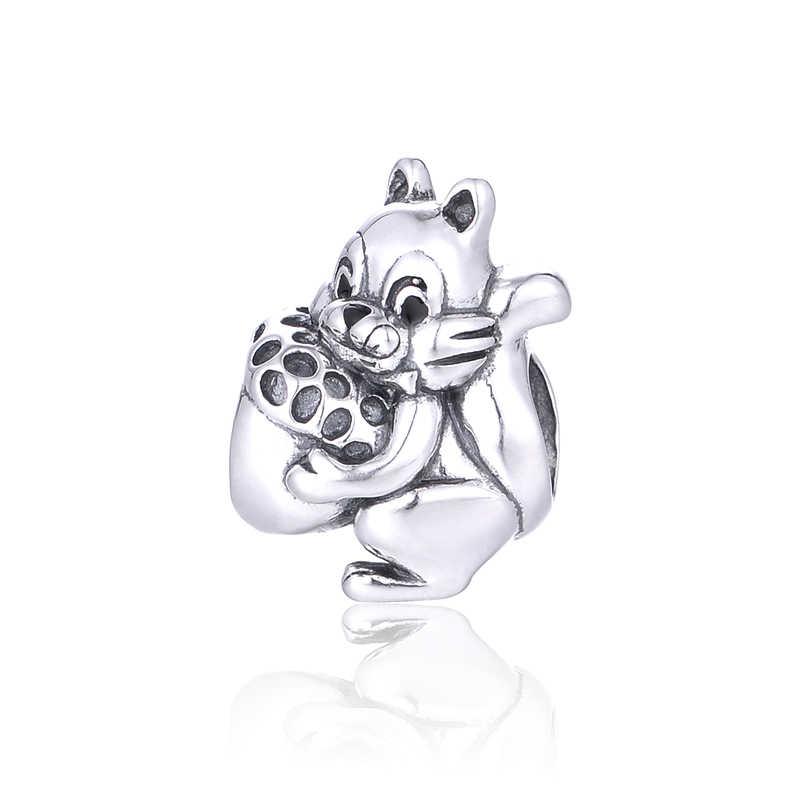 Очаровательные бусины из серебра с изображением белки для изготовления ювелирных изделий своими руками