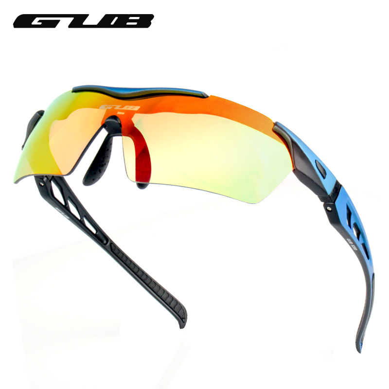 GUB 5200 Sport Sunglasses UV400 Protection Glasses With 3 Lenses 3 Colors Lightweight Colorful Polarized Cycling Glasses
