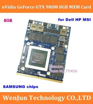 NVidia-tarjeta gráfica GTX de 980M, 8G, GPU, GTX980M, para portátil Dell Alienware...
