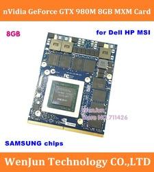 Original nuevo N16E-GX-A1 nVidia GTX 980M 8G gráfico tarjeta GPU GTX980M para Dell Alienware 18 M18X R2 R3 R4 /HP /MSI/ Clevo notebook