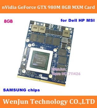 Oryginalny nowy N16E-GX-A1 nVidia GTX 980M 8G karta graficzna GPU GTX980M dla Dell Alienware 18 M18X R2 R3 R4 /HP /MSI/ Clevo notebook