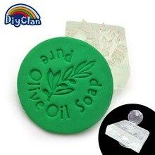 pure olive soap pattern Mini diy soap stamp chaprter seal Z0071GL